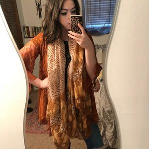 Accessories - Oversized boho patterned scarf